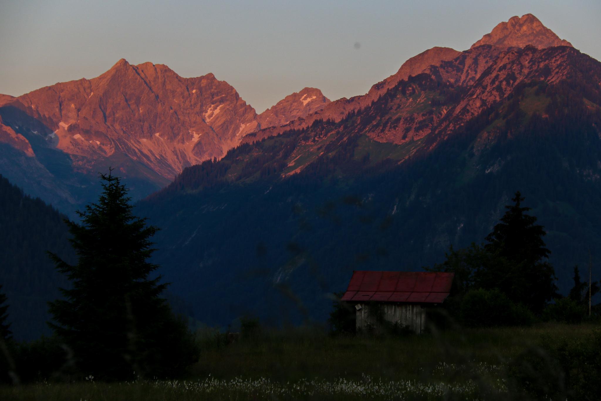 Sonnenuntergang in den Allgäuer Alpen