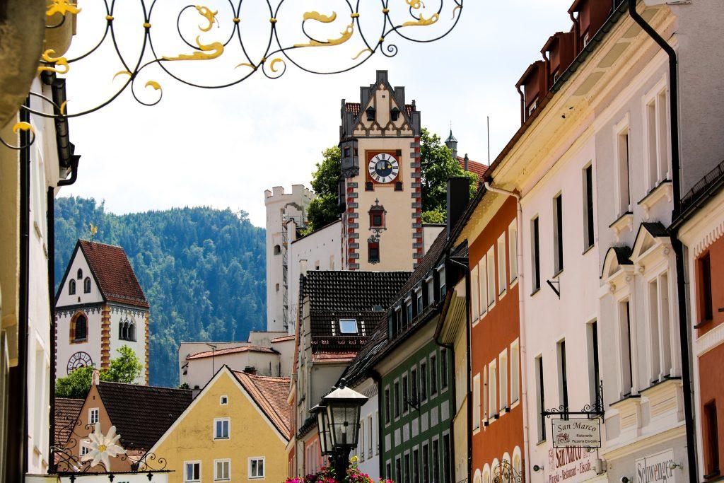 Malerische Altstadt in Füssen