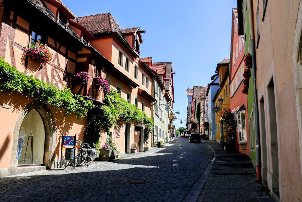 Bunte Häuser in Rothenburg