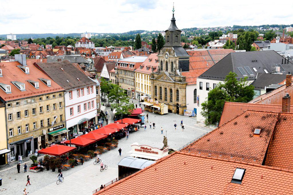 Fußgängerzone Bayreuth von oben