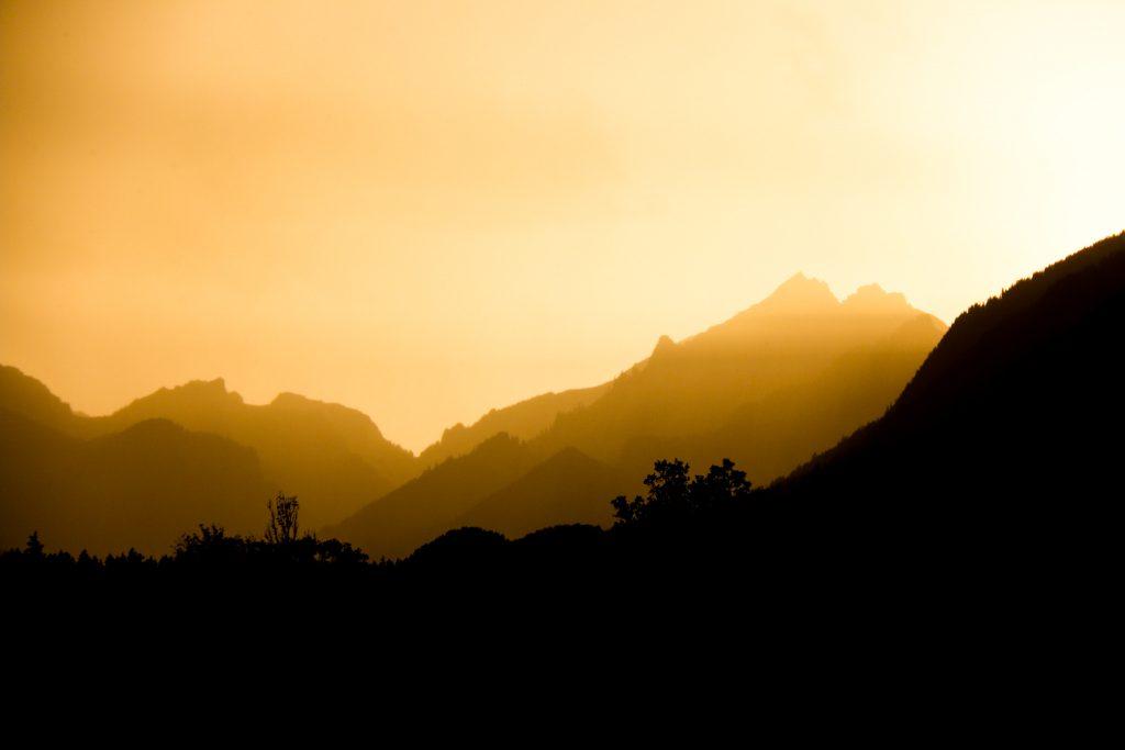 Sonnenuntergang in Oberammergau