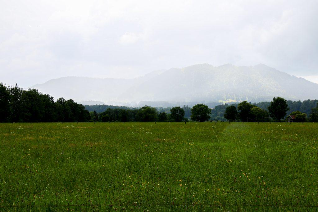 Landschaft Anfahrt von Bad Tölz nach Lenggries