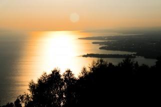 Sonnenuntergang mit Blick auf den Bodensee